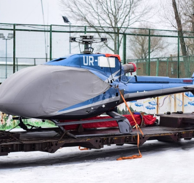 Helicopter transportation from Neolit Logistics
