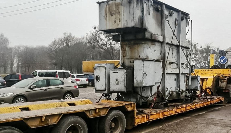 Перевозка трансформатора